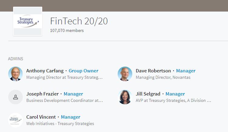LinkedIn groups for fintech marketing