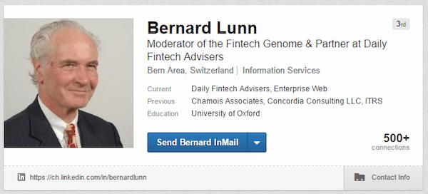 Bernard Lunn LinkedIn