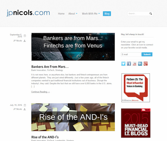 JP Nicols blog