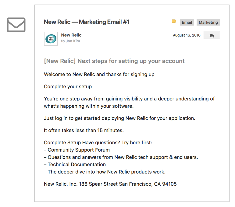 new-relic-email-1-inbound-marketing-successful-saas-companies