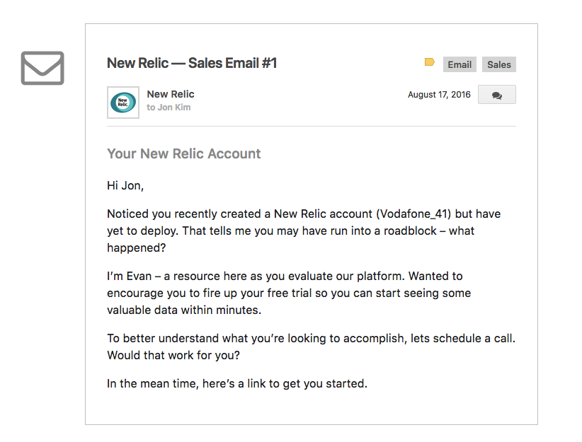 new-relic-email-2-inbound-marketing-successful-saas-companies