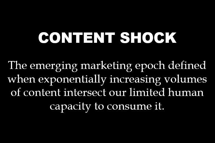 There are concerns that we've reached complete content saturation, with supply completely outstripping demand