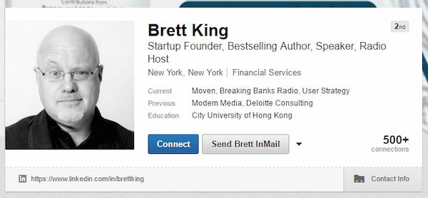 Brett King LinkedIn