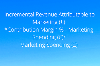 calculation-of-incremental revenue attributable to marketing