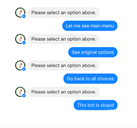 Chatbots can struggle to understand the requests of users.