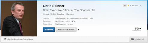 Chris Skinner LinkedIn