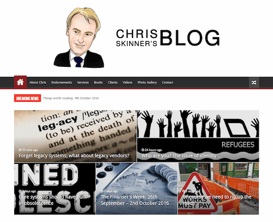 Chris Skinner The Finanser | Fintech News