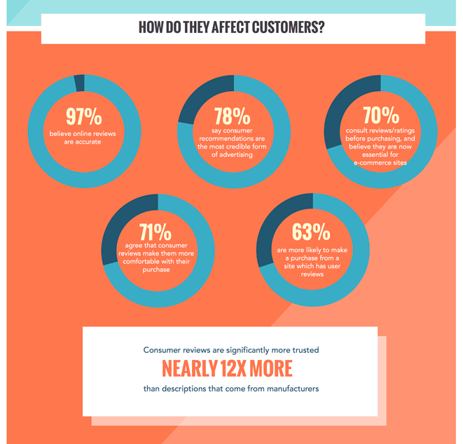 the effect of customer reviews infographic
