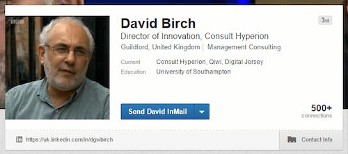 David Birch LinkedIn