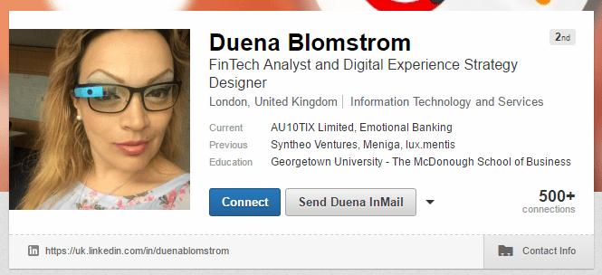 Duena Blomstrom LinkedIn