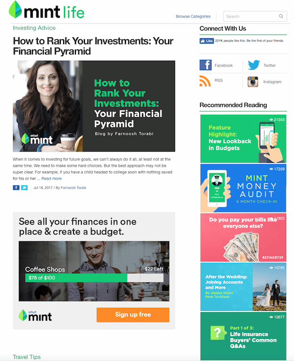 Mintlife is a personal finance blog that helps young people manage their money.