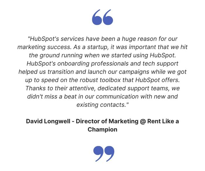 HubSpot for Startups Testimonial