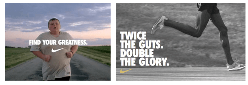 Nike's inbound marketing targets our inner hero and asks us to fight our demons
