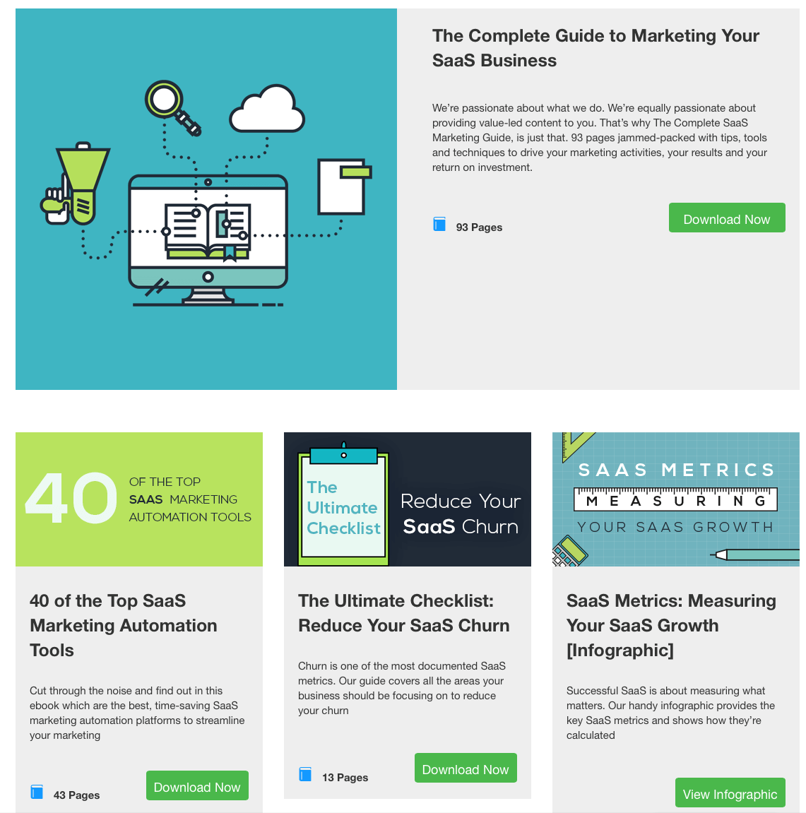 A good resources page will help attract leads