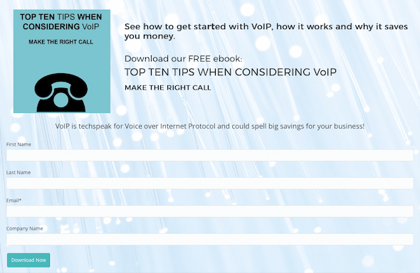 Creating gated content is an ideal way to capture visitor contact information