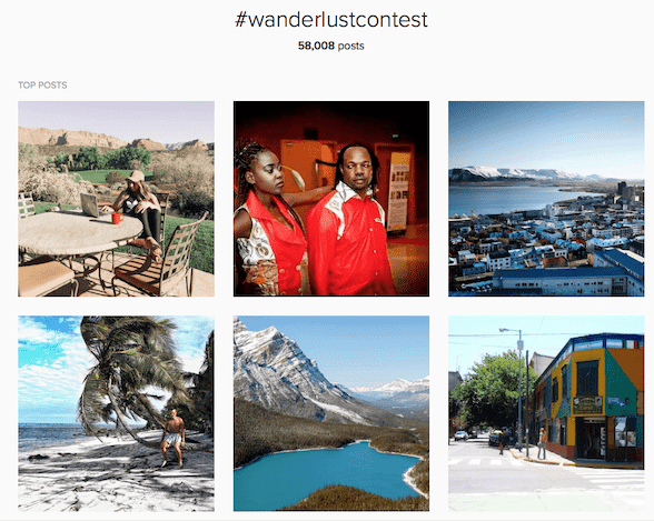 The #wanderlustcontent competition was a great way of sourcing inbound marketing material