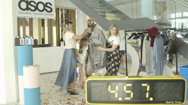 Asos managed tojump on an internet trend and show off lots of their products in this live video marketing stunt.