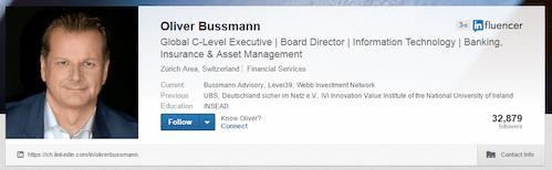 Oliver Bussmann LinkedIn