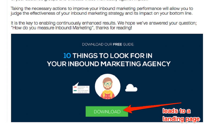 Incisive Edge landing page CTA