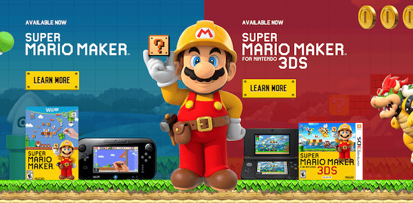 Super Mario Maker was a whole game based on the idea of users creating their own content.