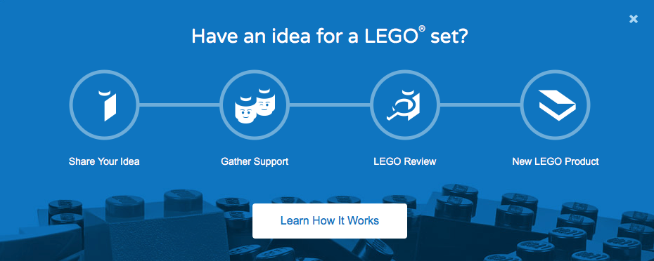 Lego have a great system for inciting their customers to create user-generated content and get new product suggestions