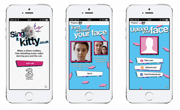 Three's Sing it Kitty advert was a great example of irreverent user-generated content marketing.