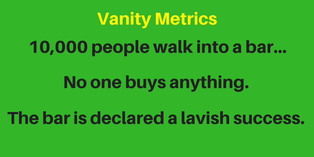 Vanity marketing metrics don't really mean anything for the success of your business
